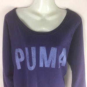 Puma Tops - PUMA | sweatshirt loose fit logo front XL PURPLE